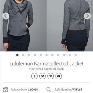 Lululemon Karmacollectd Jacket Sz 4